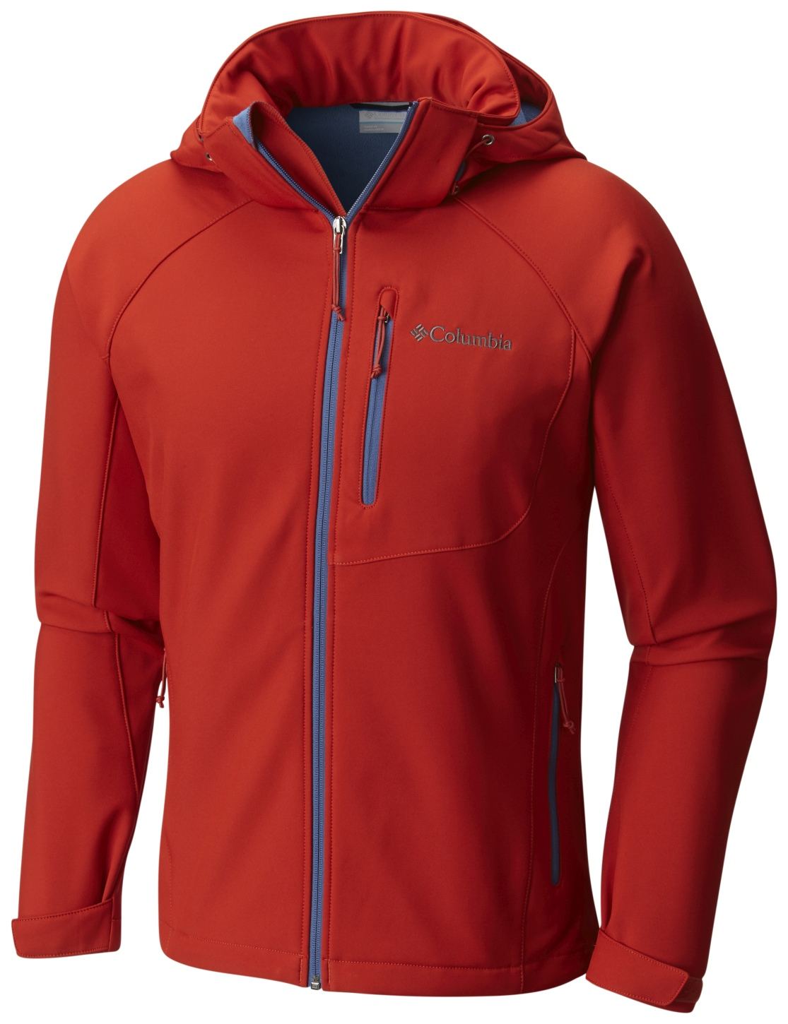 Columbia Men's Cascade Ridge II Softshell Top Rust Red-30