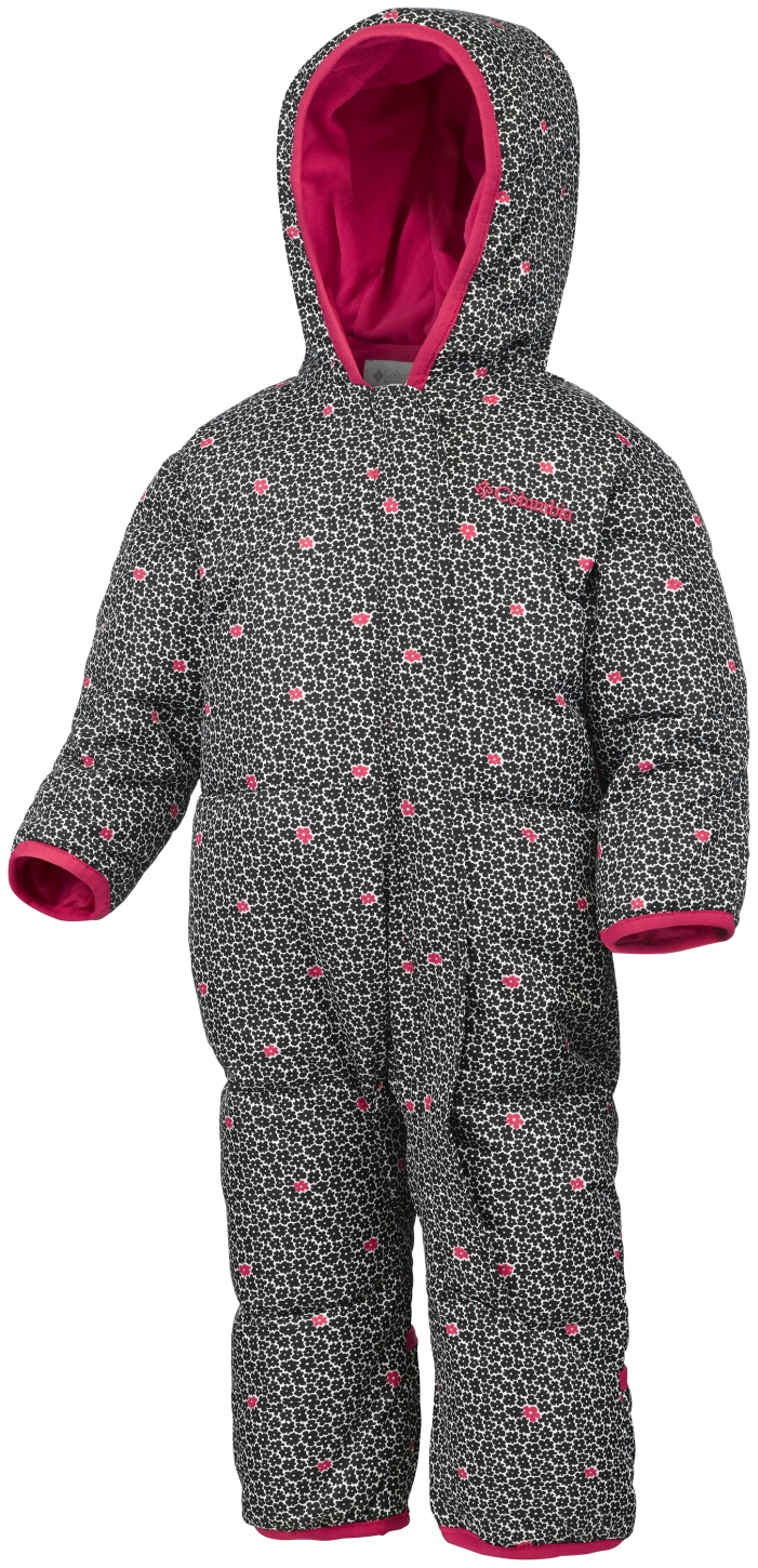 Columbia Toddlers' Snuggly Bunny Bunting Suit Black Floral-30