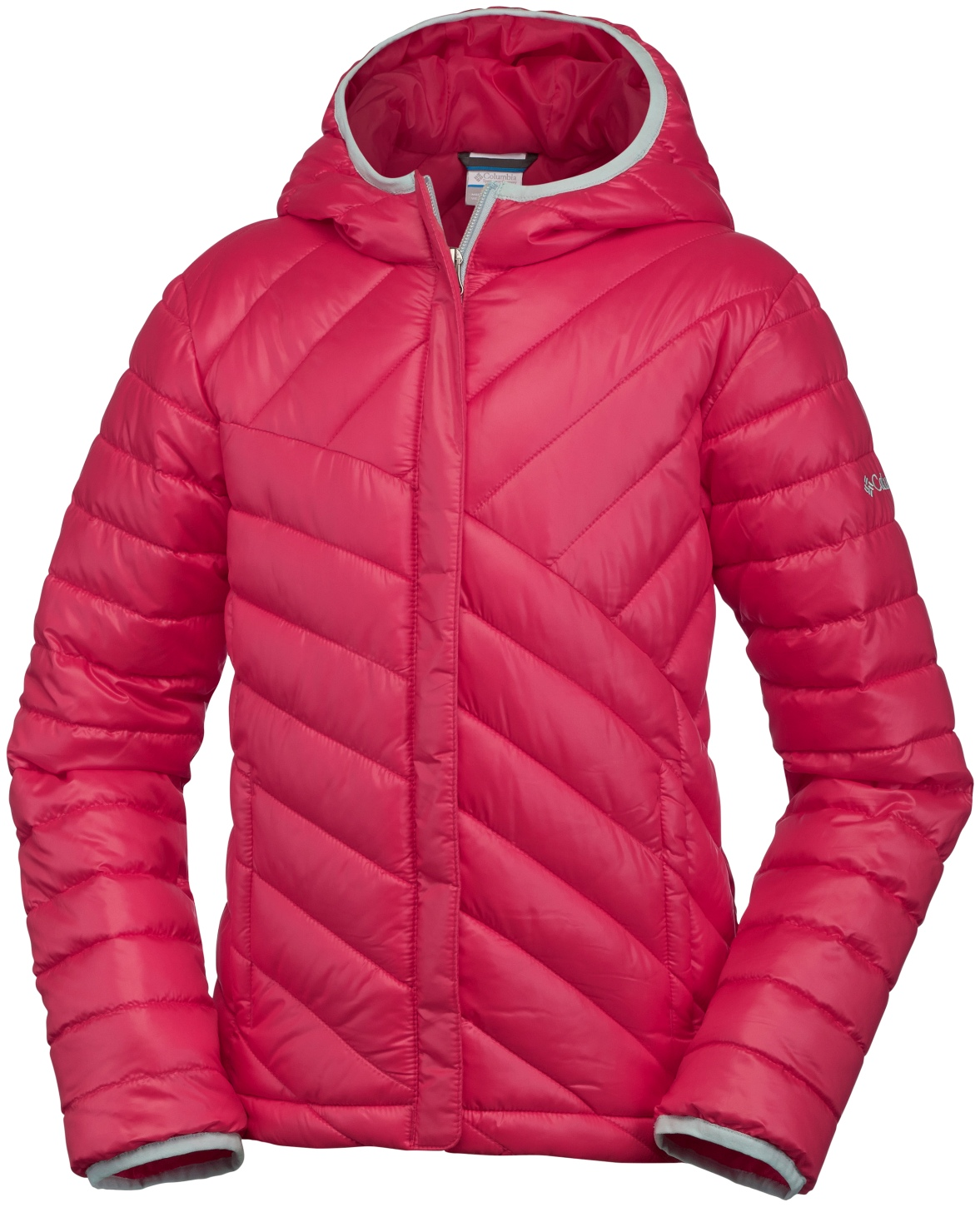 Columbia Girls' Powder Lite Puffer Jacket Red Camelia-30