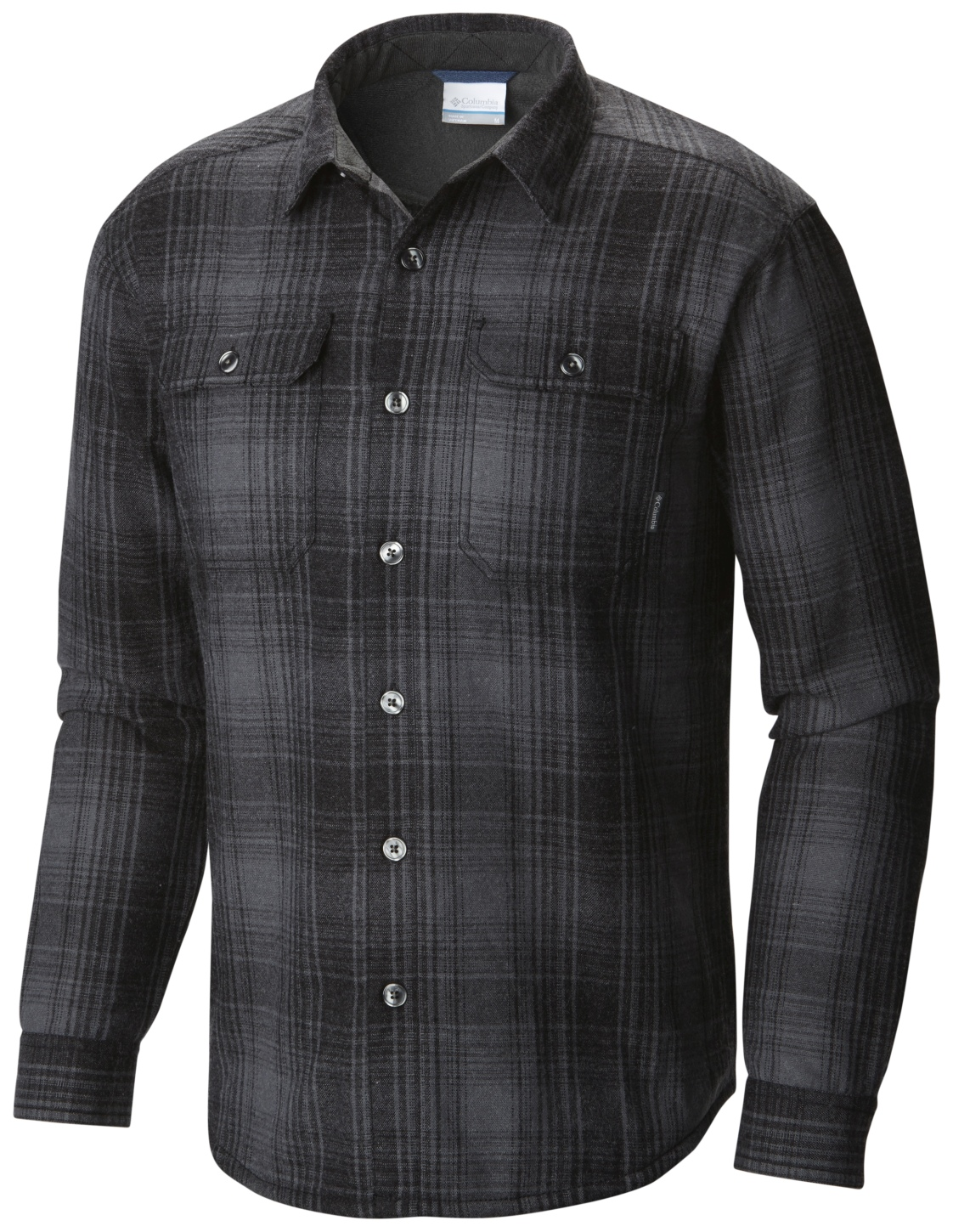 Columbia Men's Windward III Overshirt Black Plaid-30