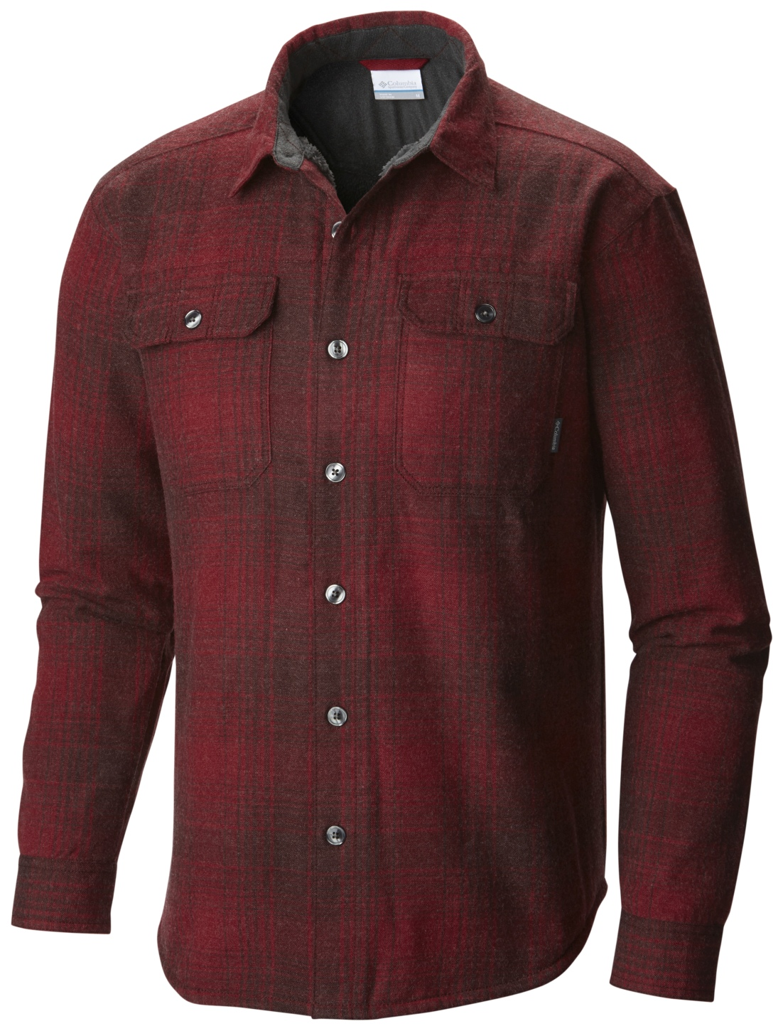 Columbia Windward Iii Overshirt Red Element Plaid-30