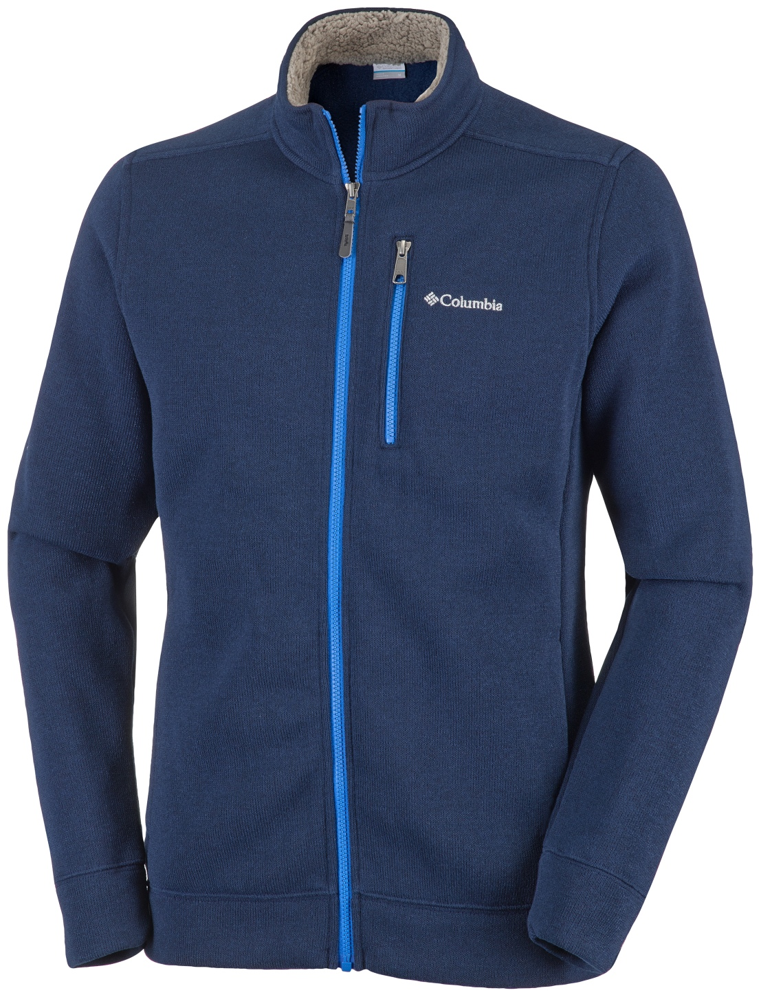 Columbia Men's Terpin Point II Full Zip Top Collegiate Navy, Super Blue-30