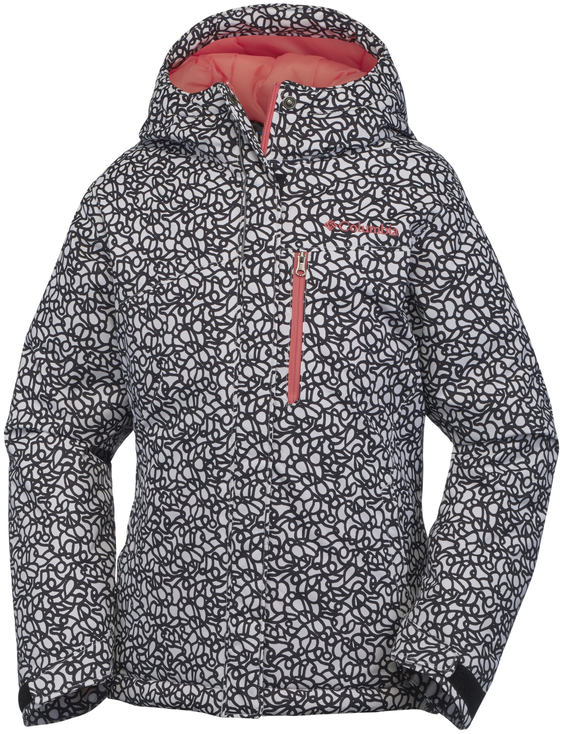 Columbia Girls' Alpine Free Fall Ski Jacket Black Print-30
