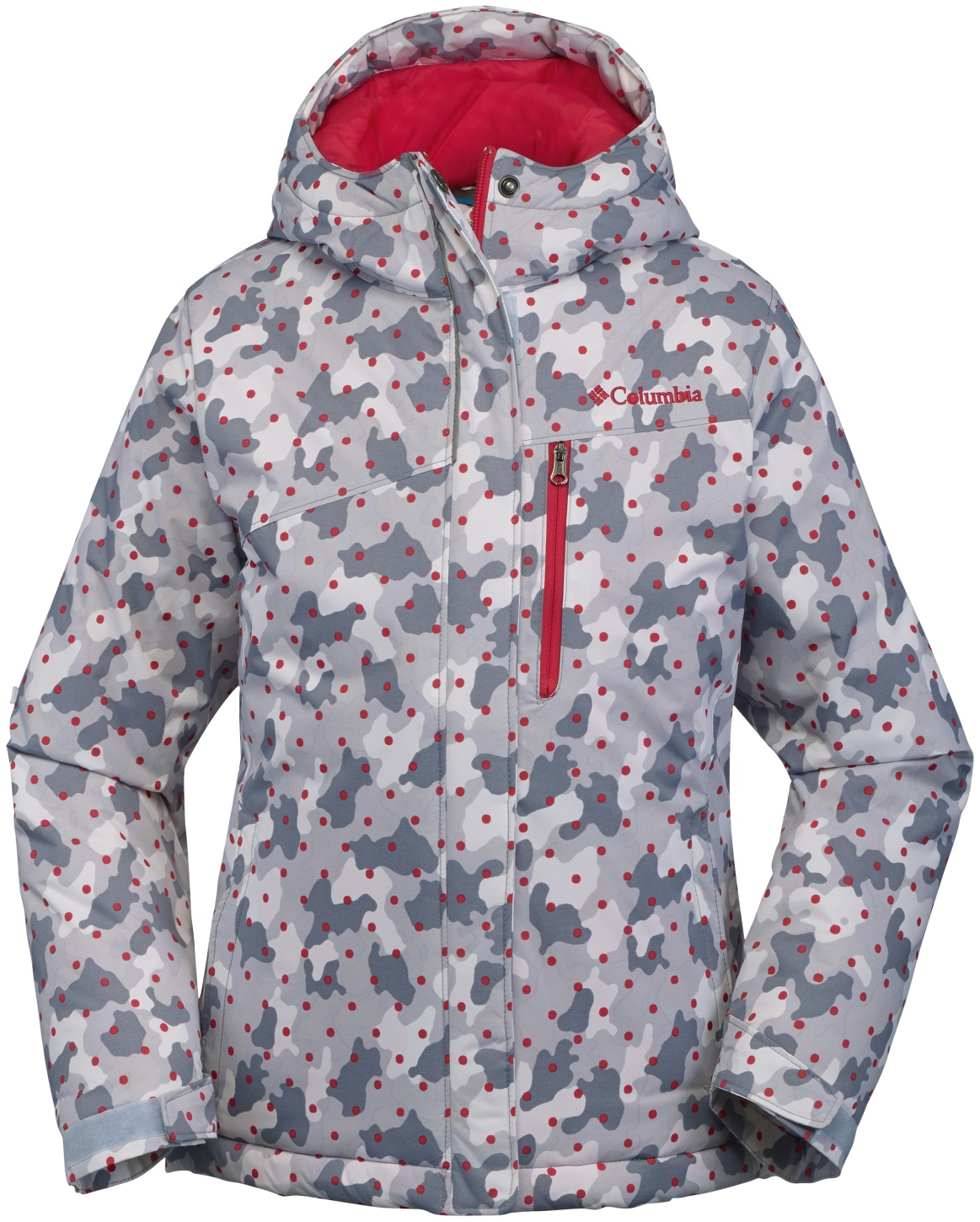 Columbia Girls' Alpine Free Fall Ski Jacket Red Camelia Camo-30