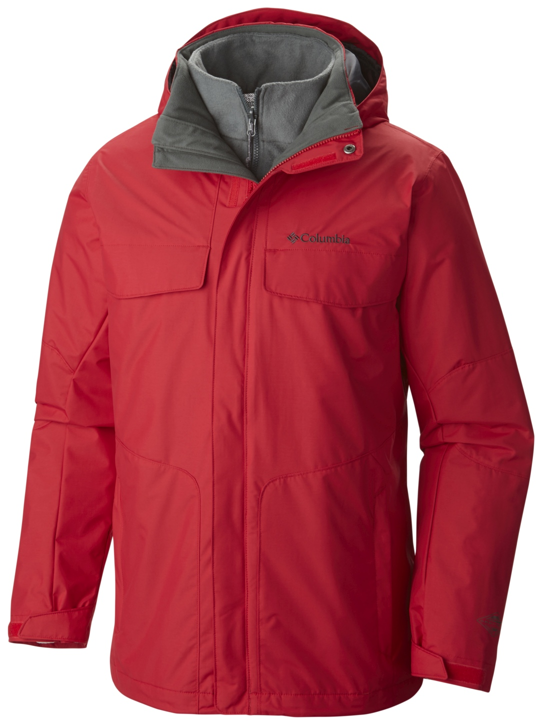 Columbia Men's Bugaboo Interchange Ski Jacket Mountain Red-30