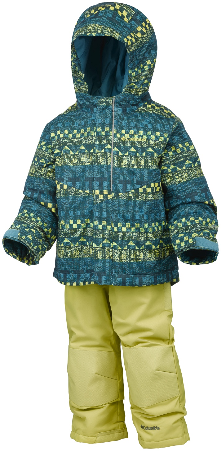 Columbia Toddlers' Buga Snow Set Deep Marine Fairisle-30