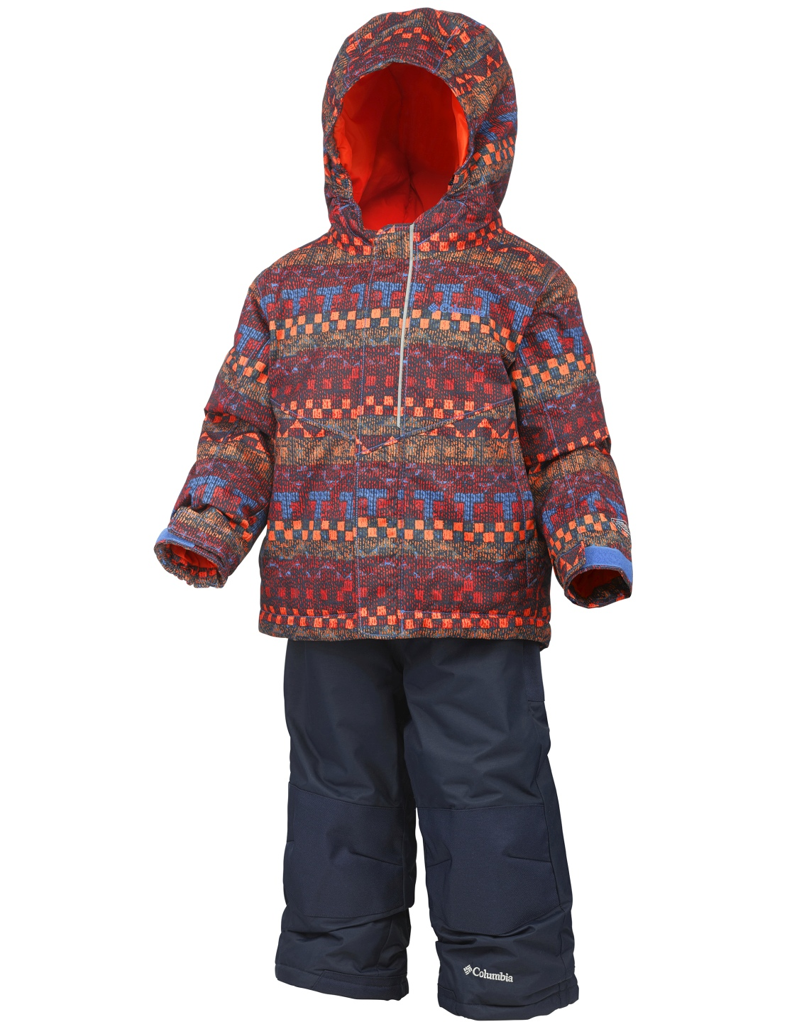 Columbia Boy's Buga Snow Set Super Blue Fairisle-30