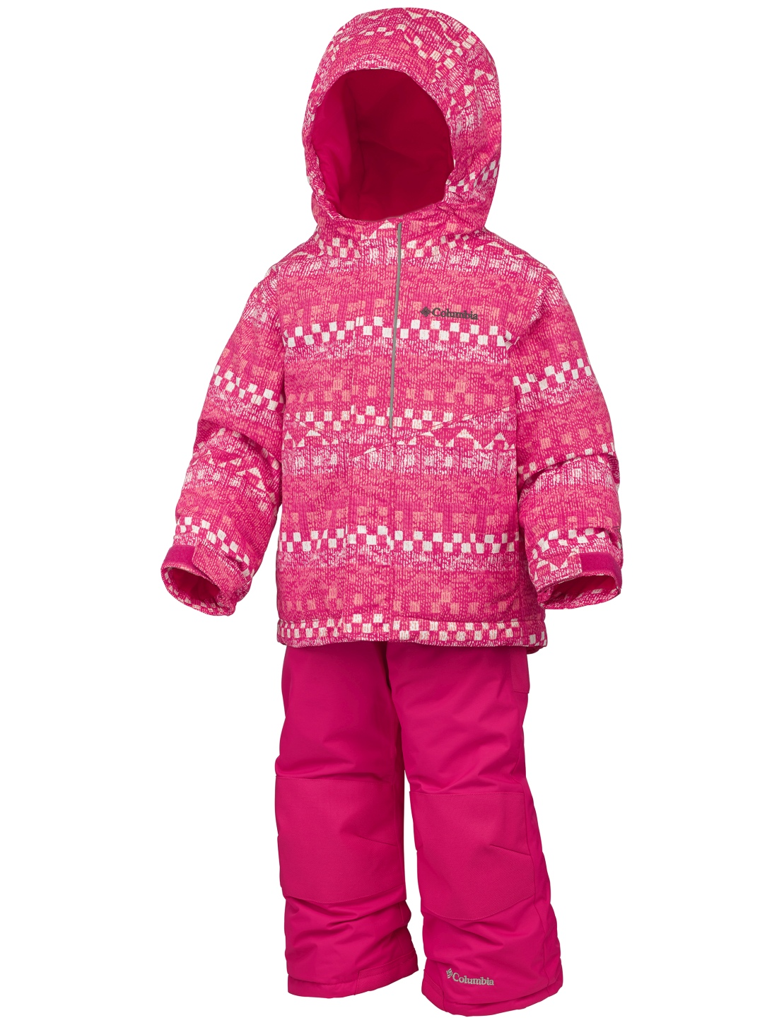 Columbia Boy's Buga Snow Set Punch Pink Fairisle-30