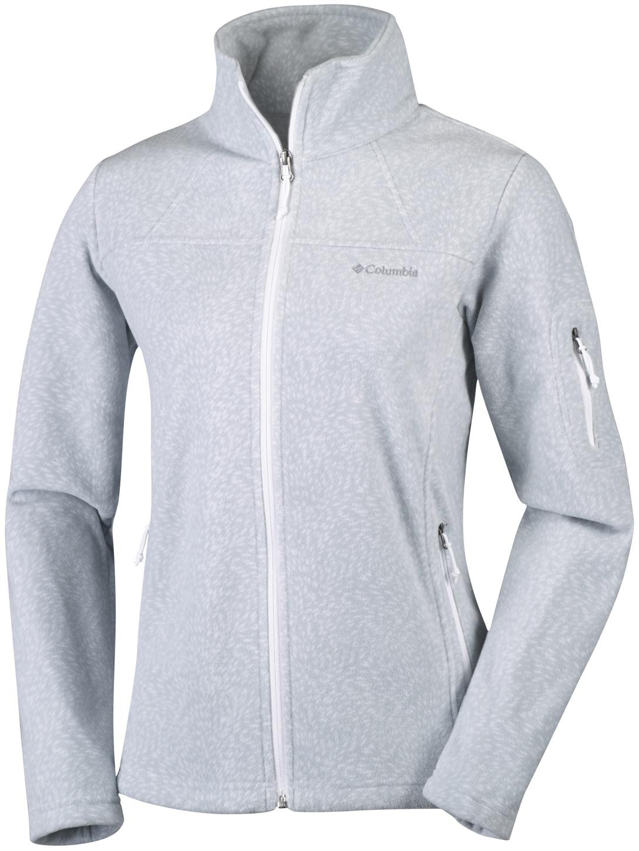 Columbia Fast Trek Bedruckte Jacke für Damen White Waterspout-30