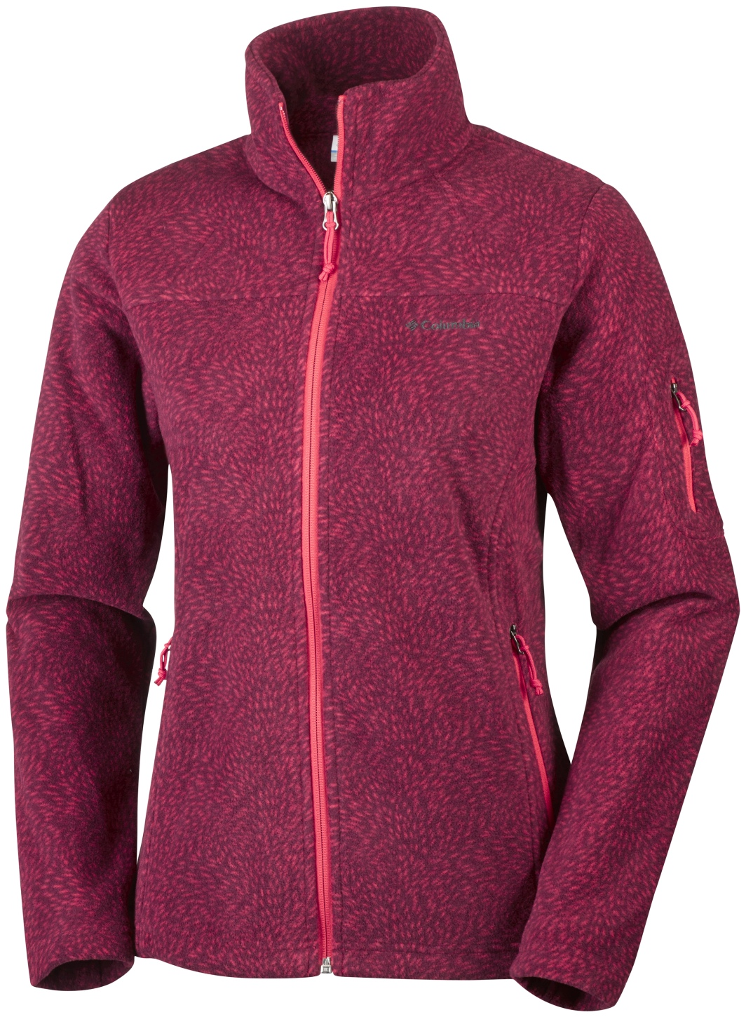 Columbia Women's Fast Trek Printed Jacket Red Camellia Waterspout-30