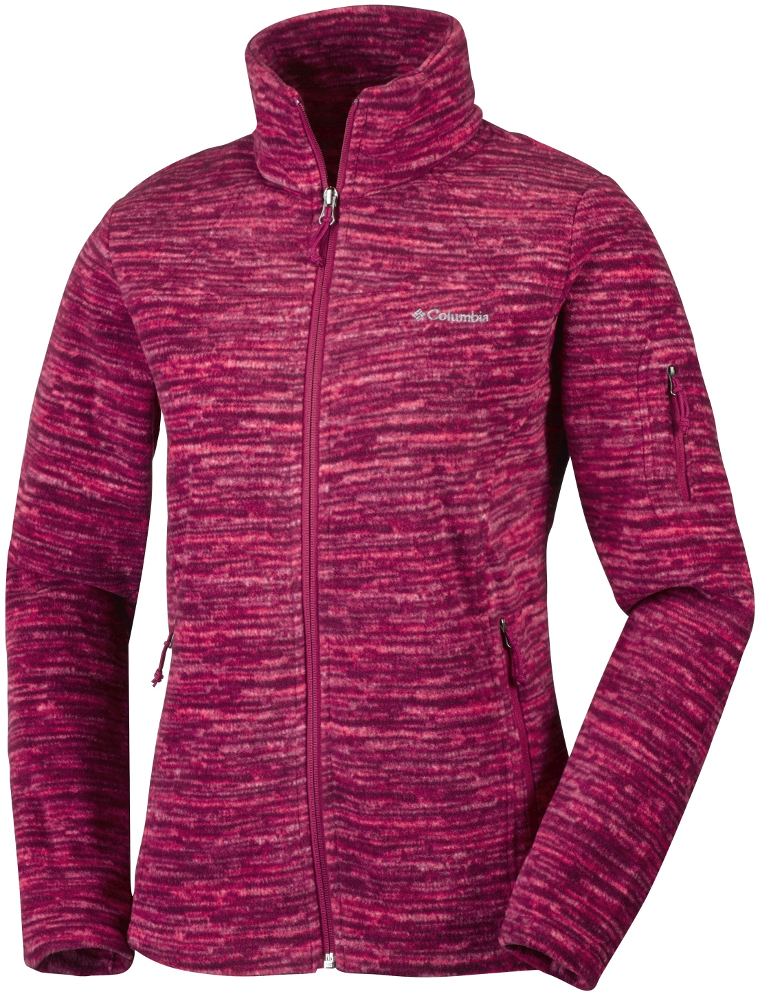 Columbia Women's Fast Trek Printed Jacket Red Orchid Strata-30