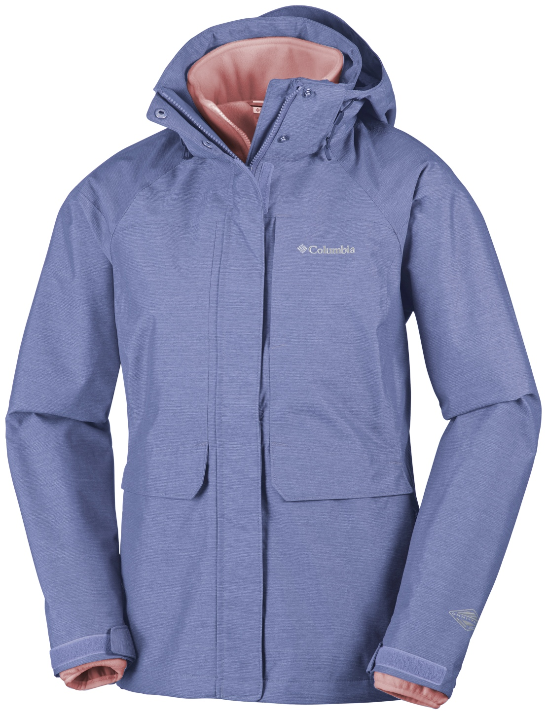 Columbia Women's Mystic Pines Interchange Ski Jacket Bluebell Cross Dye-30