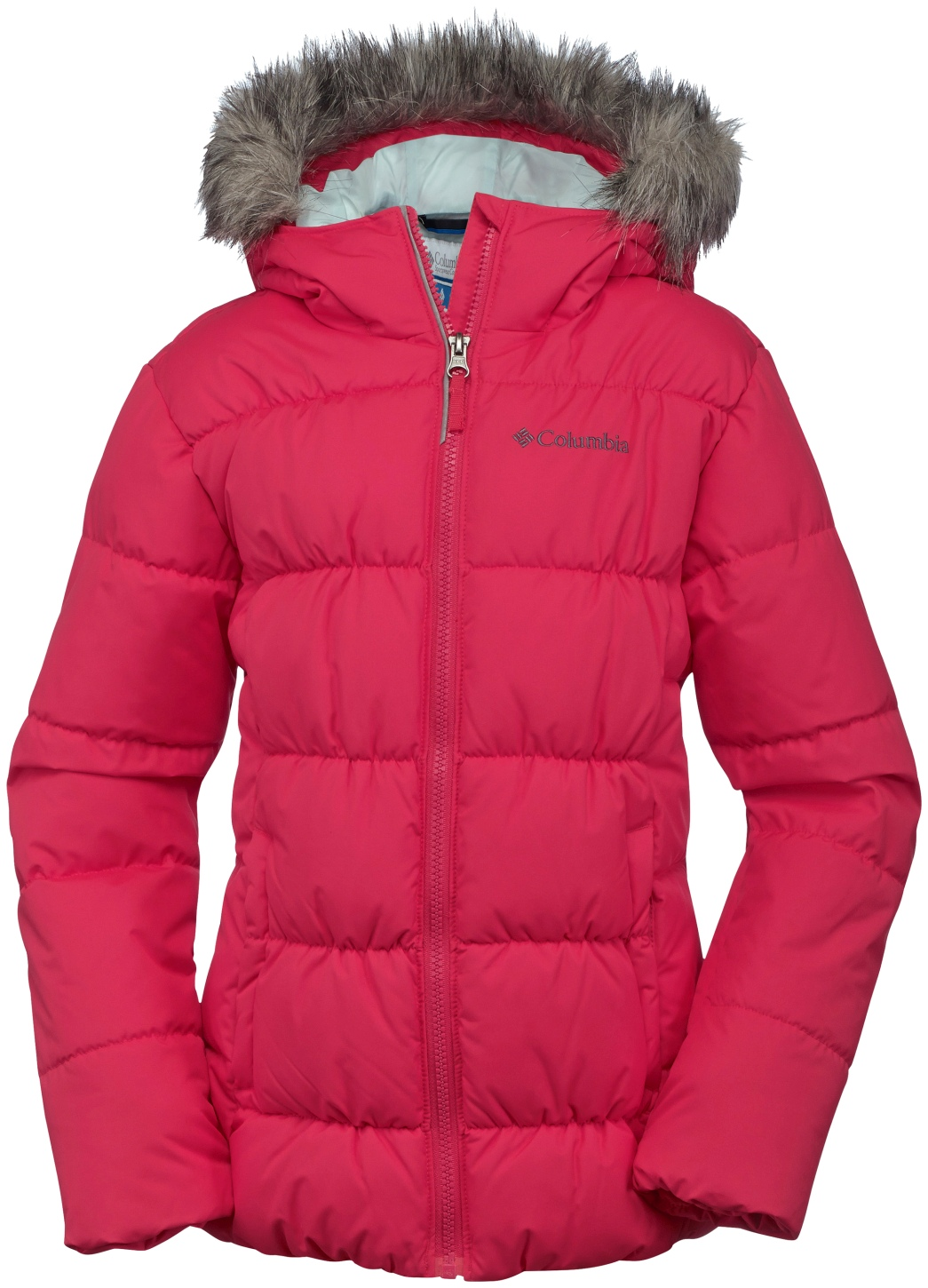 Columbia Girls' Gyroslope Jacket Red Camelia-30
