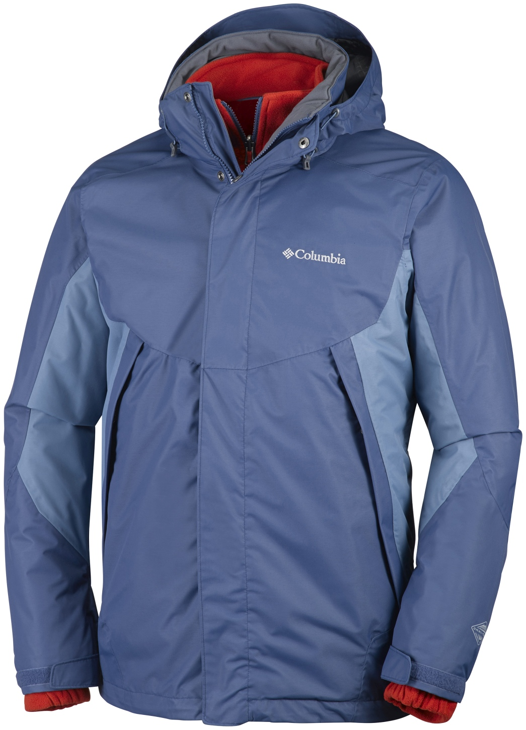 Columbia Men's Sestrieres Interchange Ski Jacket Night Tide, Steel-30