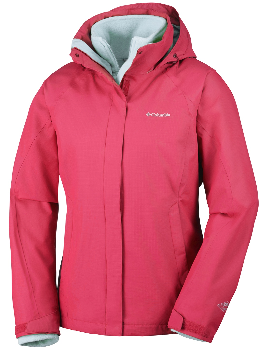 Columbia Women's Venture On Interchange Ski Jacket Red Camelia-30