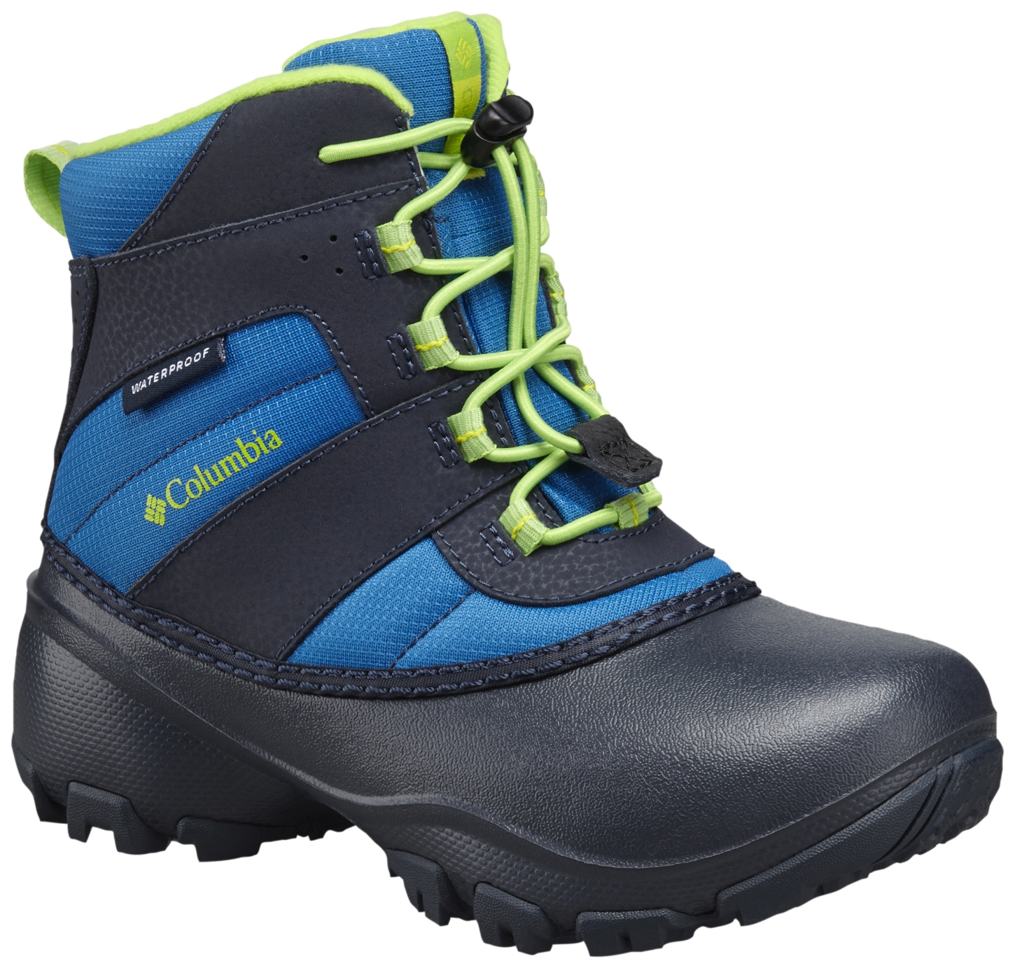 Columbia Rope Tow III Waterproof Snow Boots Blue Magic, Green Mamba-30