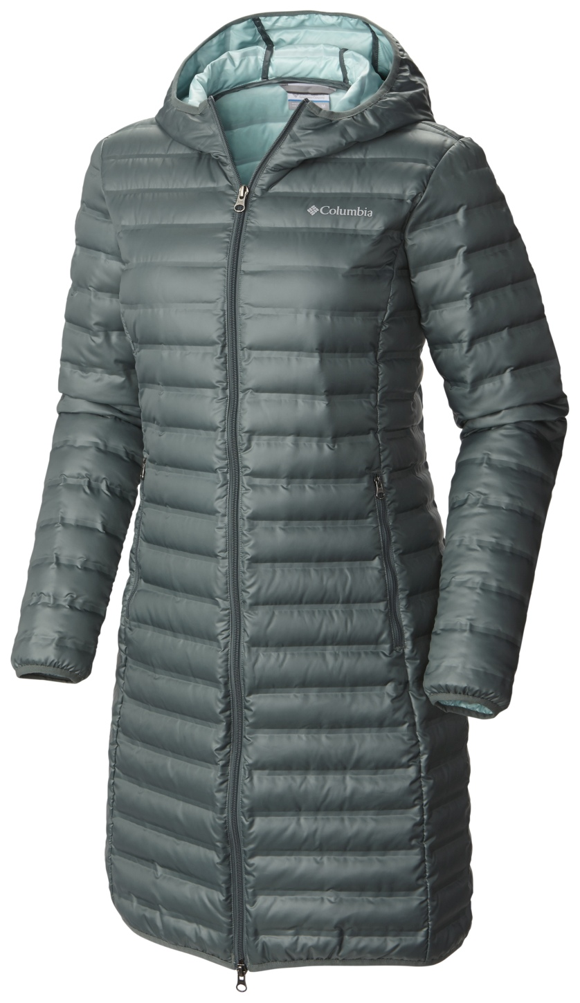 Columbia Women's Flash Forward Long Down Jacket Pond, Spray-30