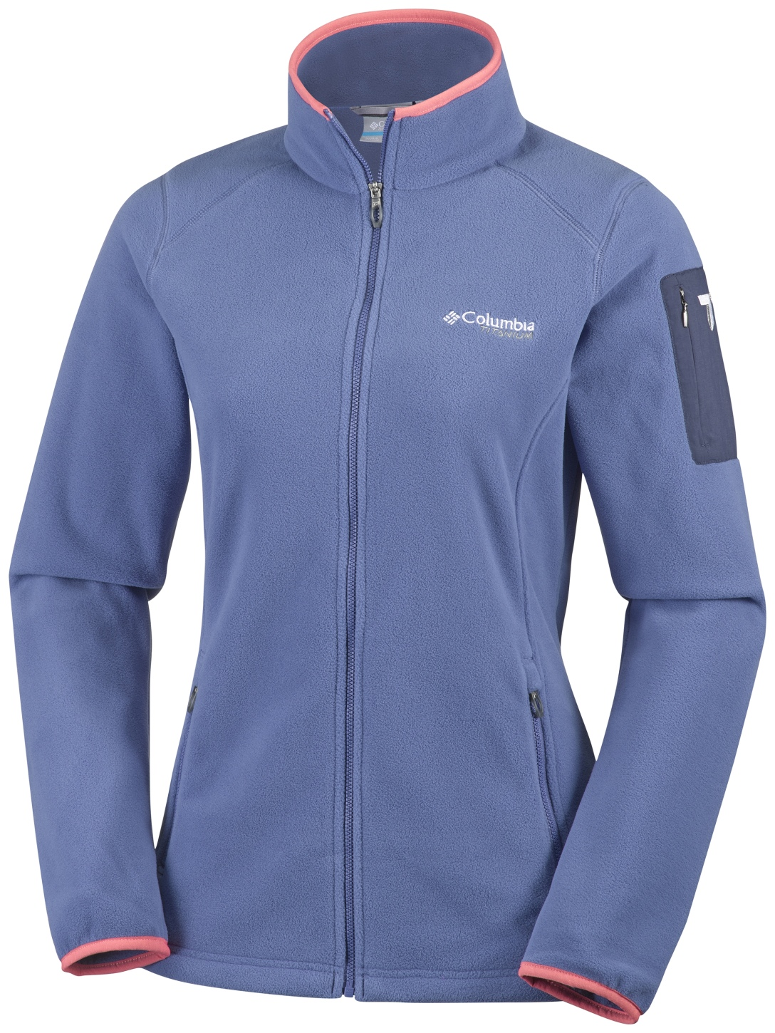 Columbia Women's Titan Pass 2.0 Fleece Jacket Bluebell, Hot Coral-30