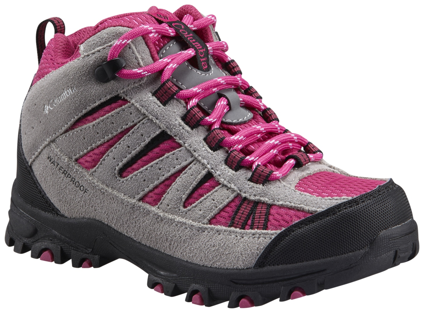 Columbia Pisgah Peak Mid Waterproof Shoes Deep Blush, White-30