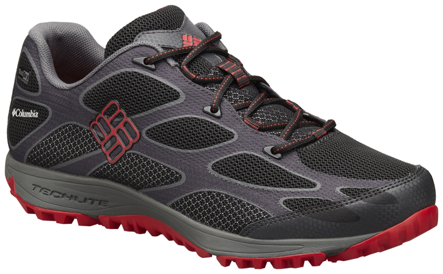 Columbia Men's Conspiracy IV Outdry® Trail Shoes Black, Bright Red-30