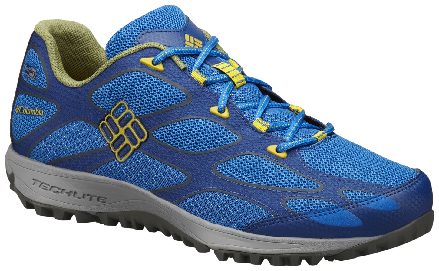 Columbia Men's Conspiracy IV Outdry® Trail Shoes Super Blue, Antique Moss-30