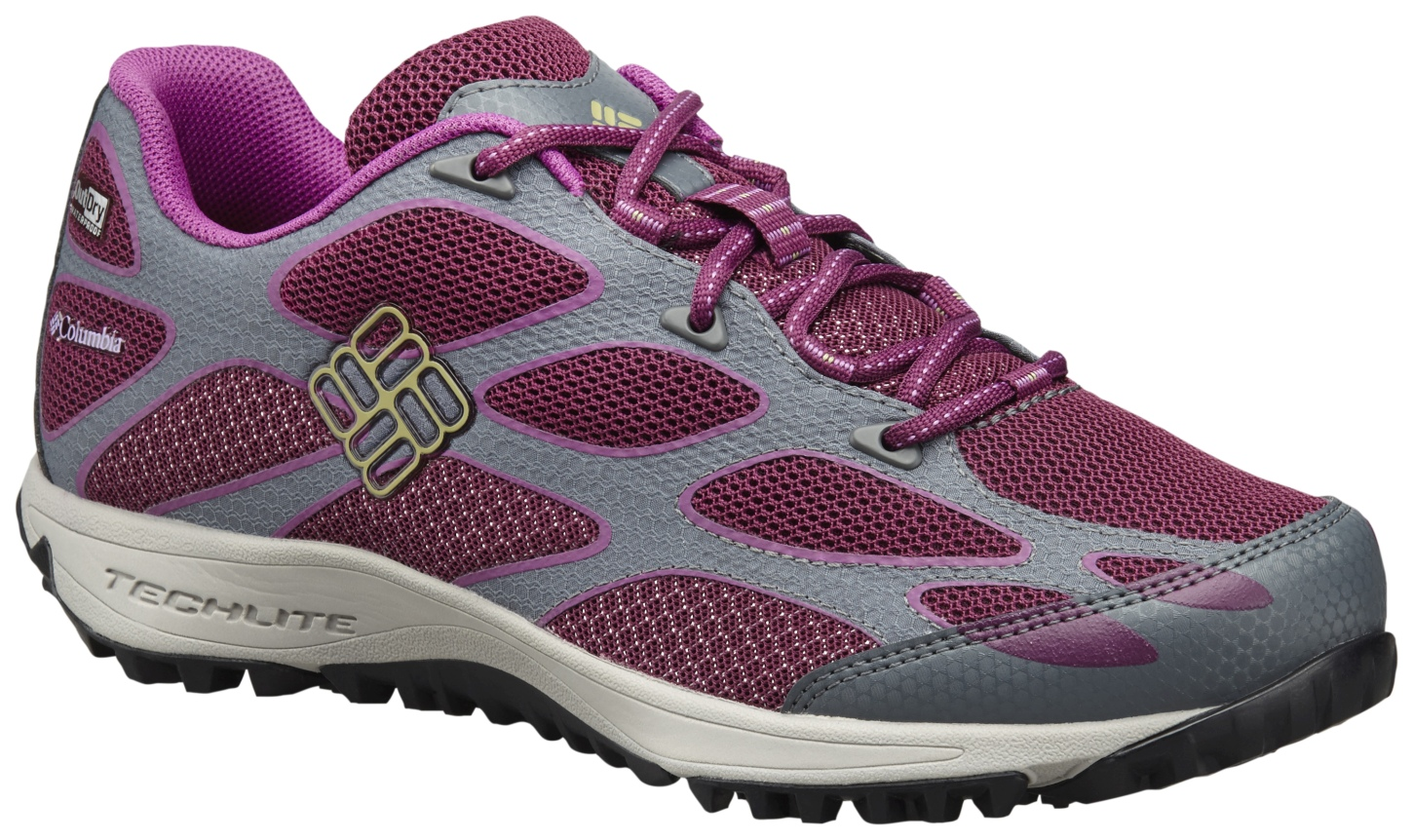 Columbia Women's Conspiracy IV Outdry® Trail Shoes Dark Raspberry, Cool Moss-30