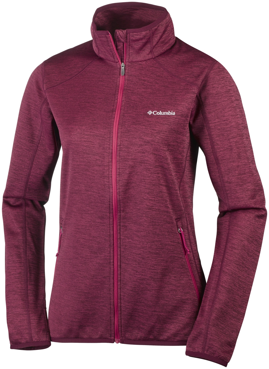 Columbia Women's Sapphire Trail Full Zip Fleece Red Orchid-30