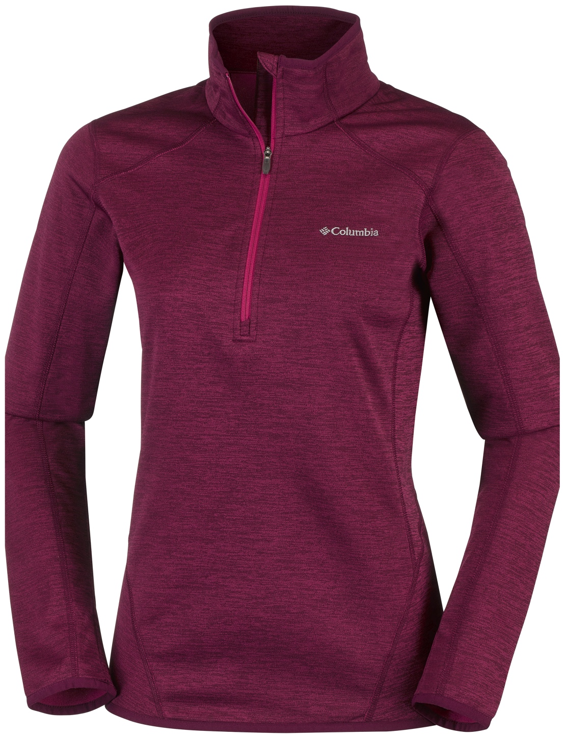 Columbia Sapphire Trail 1/2 Reißverschluss Fleece Damen Red Orchid-30
