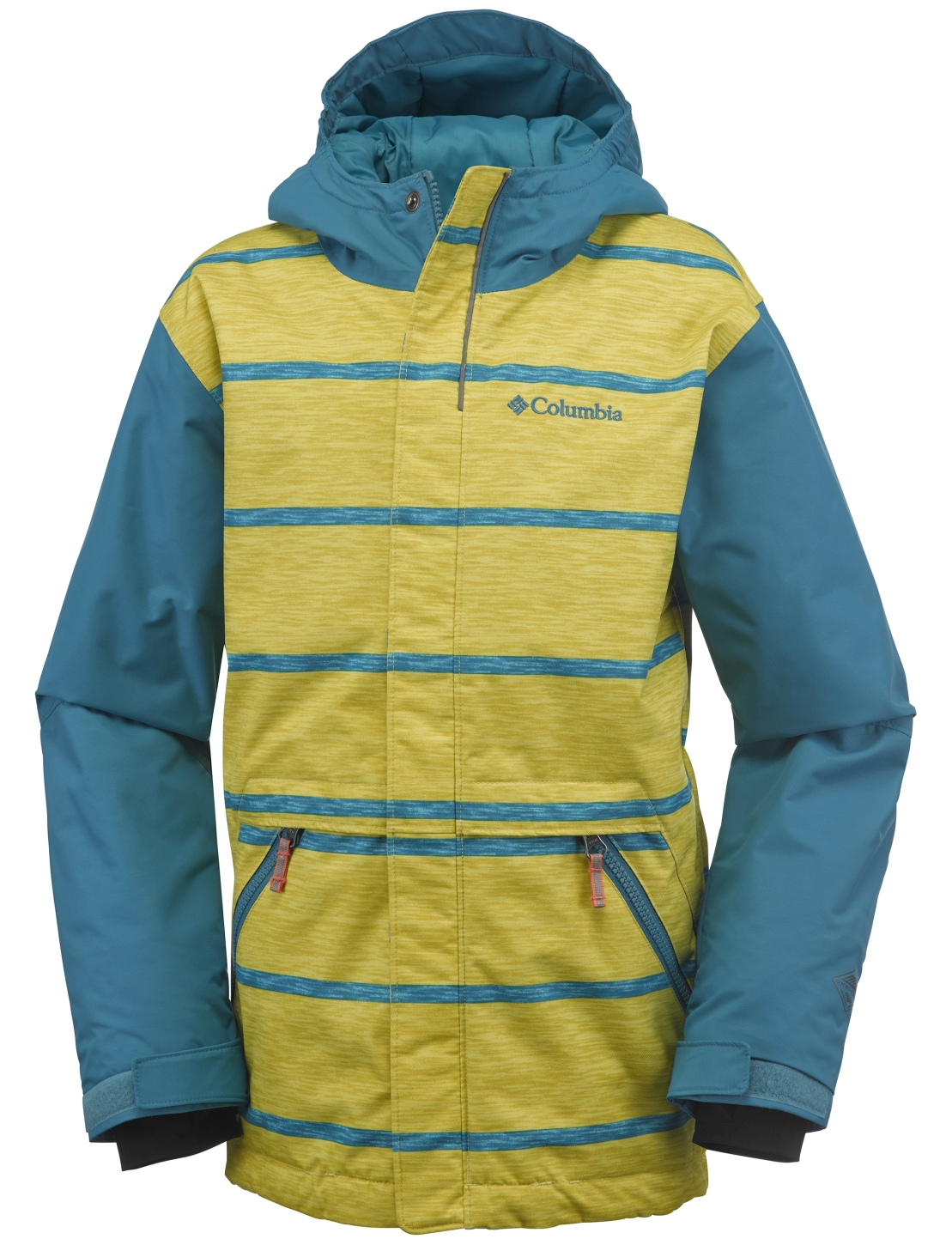 Columbia Boys' Slope Star Jacket Deep Marine Stripe-30