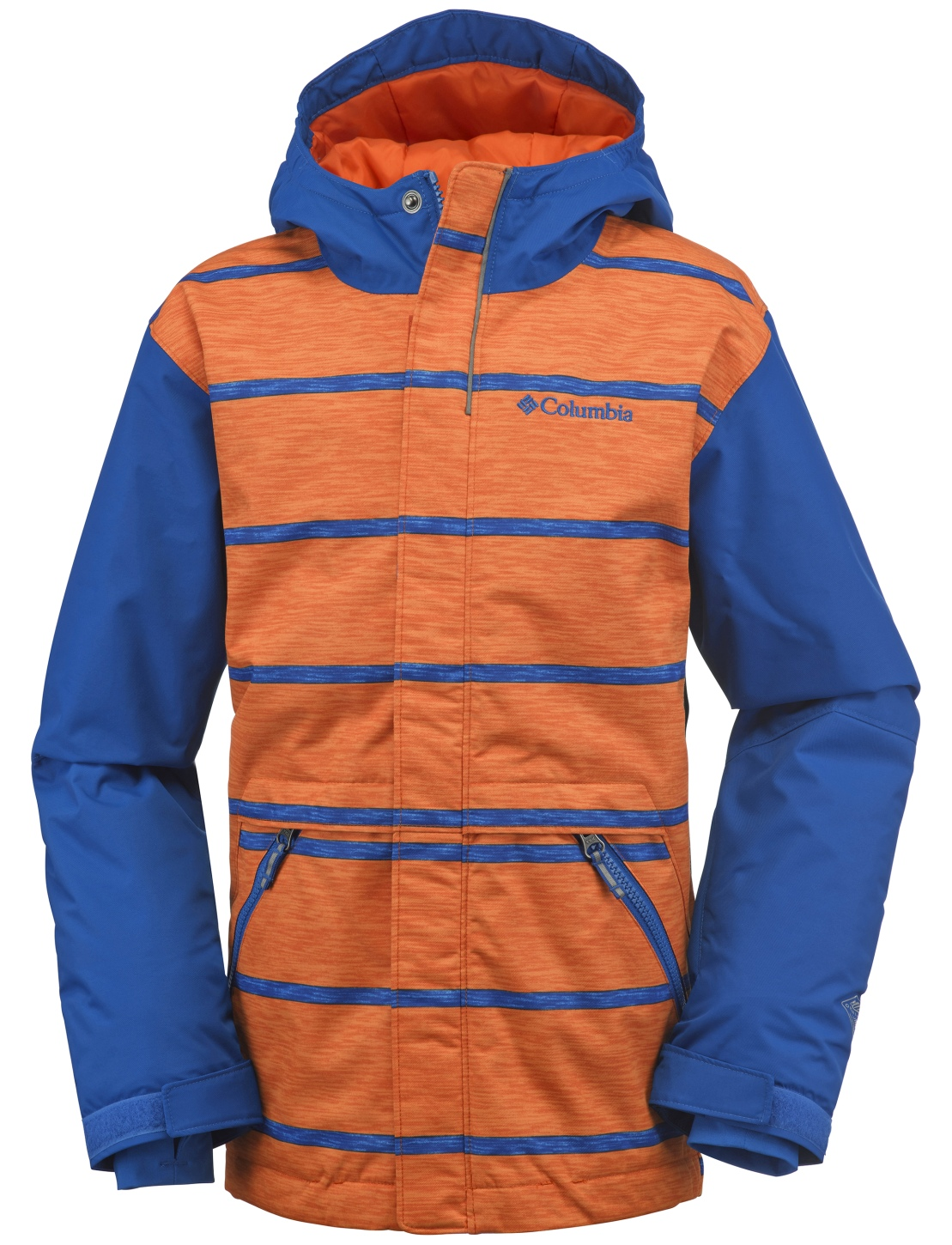 Columbia Boys' Slope Star Jacket Super Blue Stripe-30