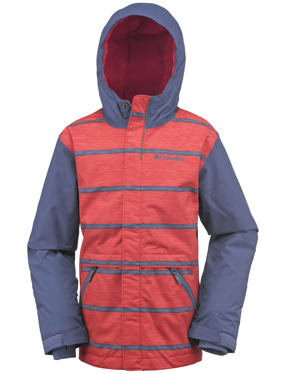 Columbia Boys' Slope Star Jacket Bluebell Stripe-30