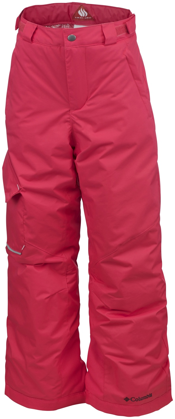 Columbia Boys' Bugaboo Ski Trousers Red Camellia-30