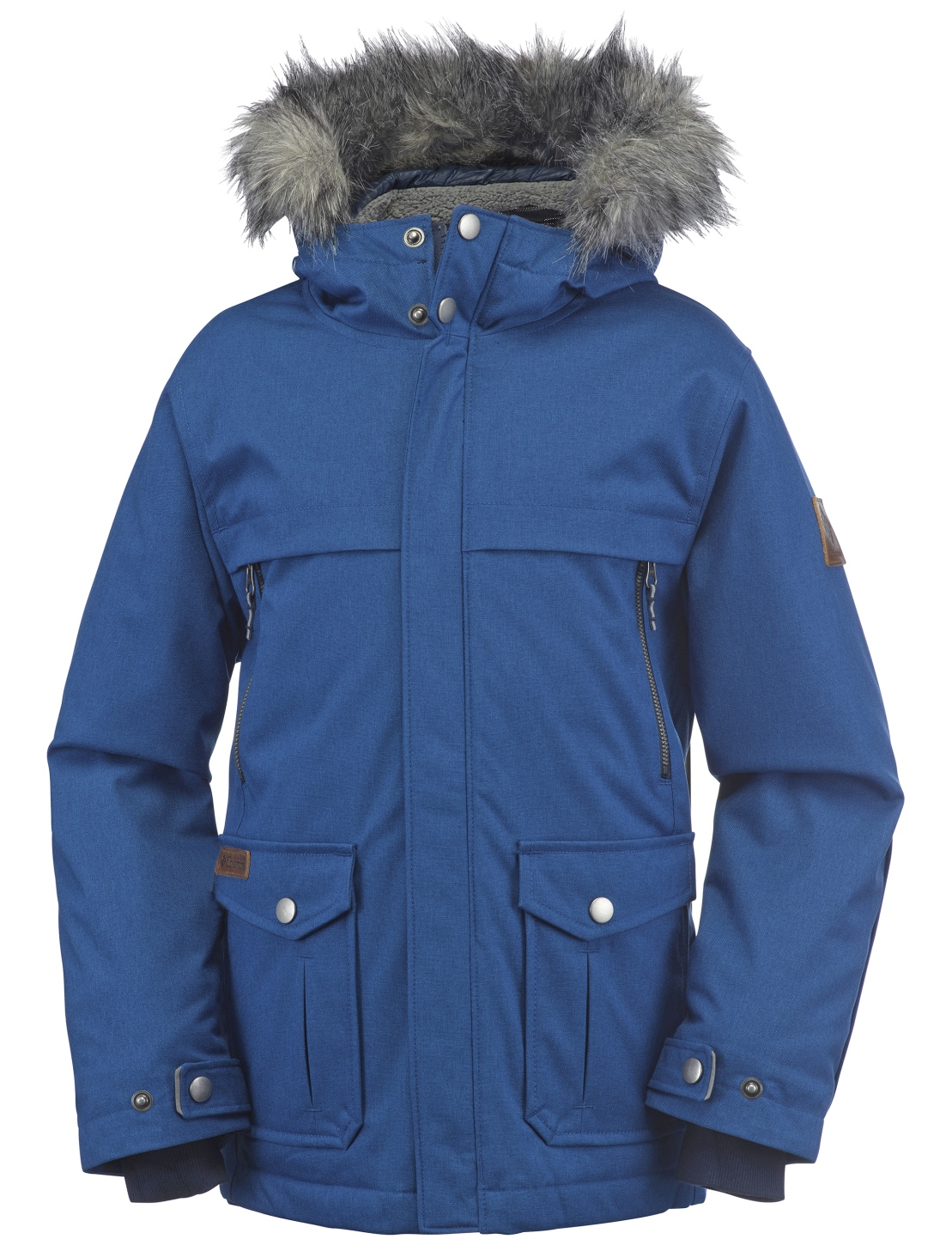 Columbia Boys' Barlow Pass 600 TurboDown Jacket Marine Blue Melange-30