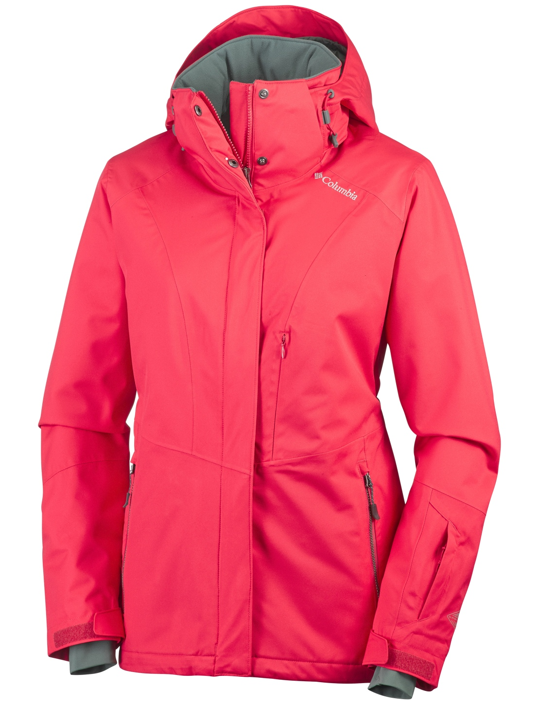 Columbia Women's Perdida Glade Ski Jacket Red Camellia-30