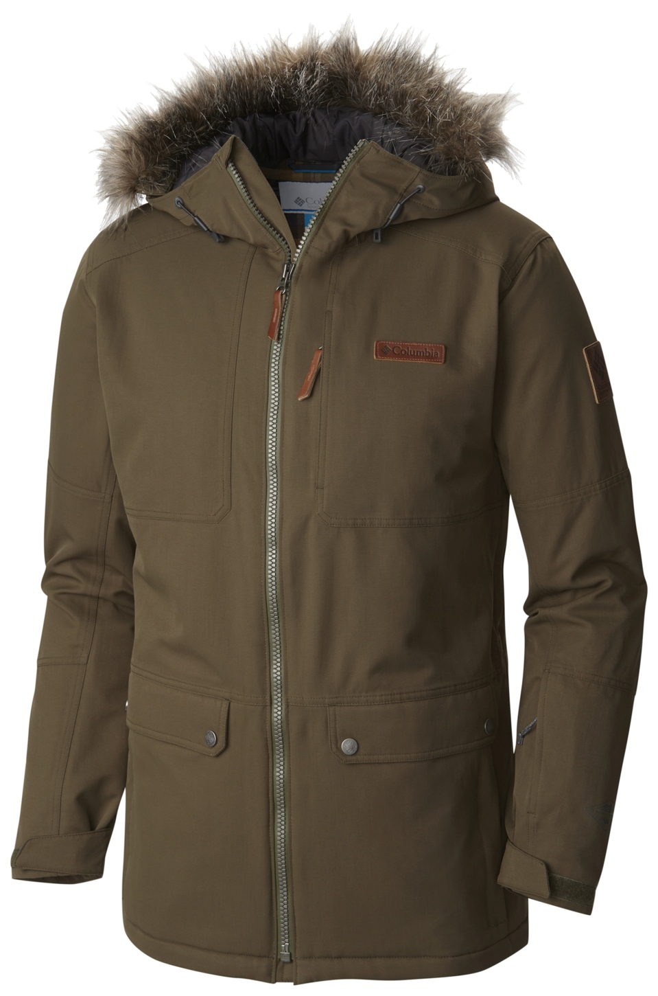 Columbia Men's Catacomb Crest Ski Parka Peatmoss-30