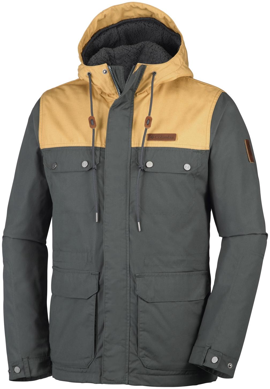 Columbia Men's Colburn Crest Jacket Deep Green, Pilsner-30