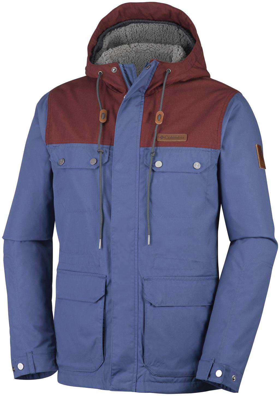Columbia Men's Colburn Crest Jacket Night Tide, Deep Rust-30
