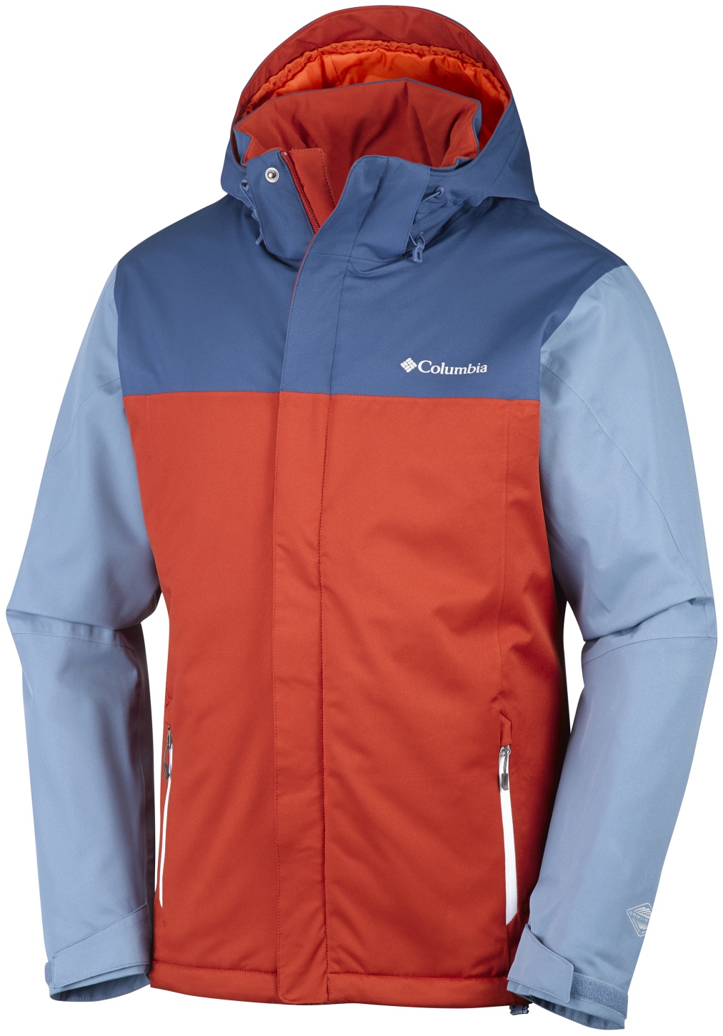 Columbia Men's Everett Mountain Jacket Rust Red, Night Tide-30