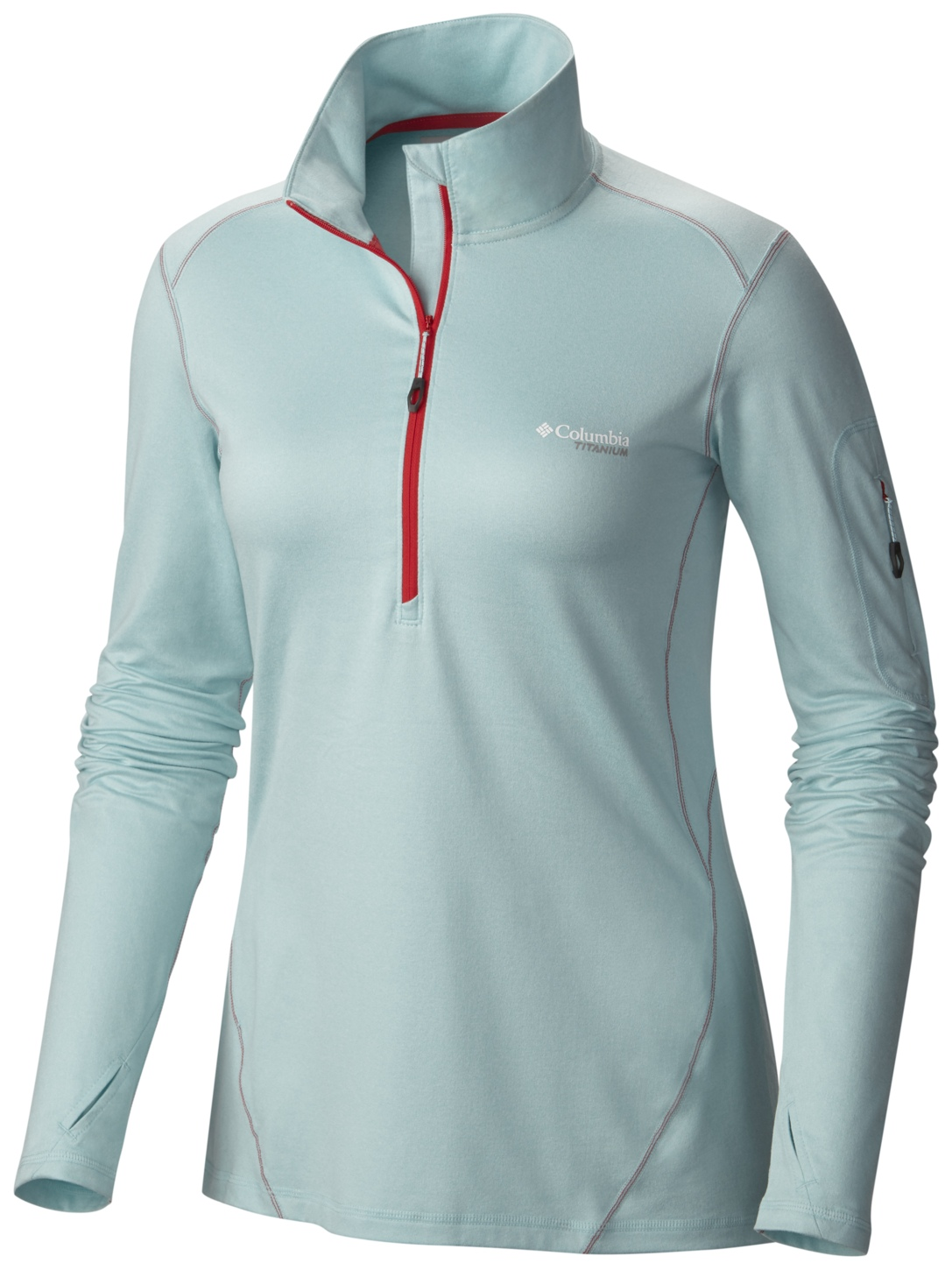 Columbia Women's Diamond Peak Half Zip Top Spray Heather-30