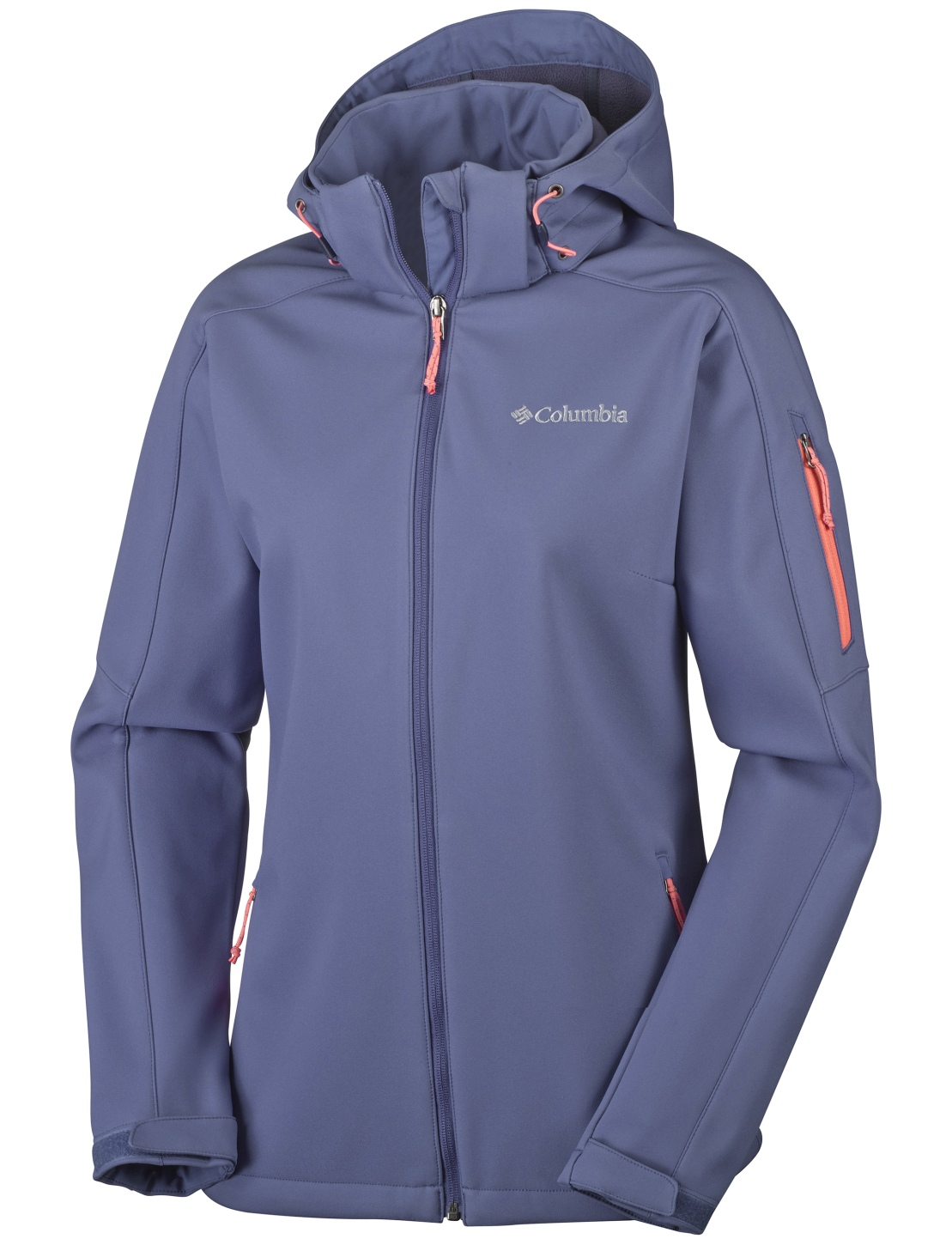Columbia Women's Cascade Ridge Jacket Bluebell, Hot Coral-30