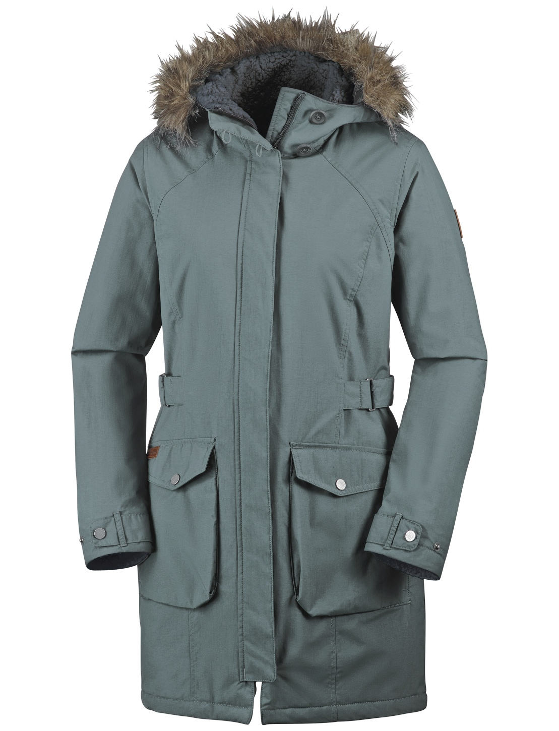 Columbia Women's Grandeur Peak Long Jacket Pond-30