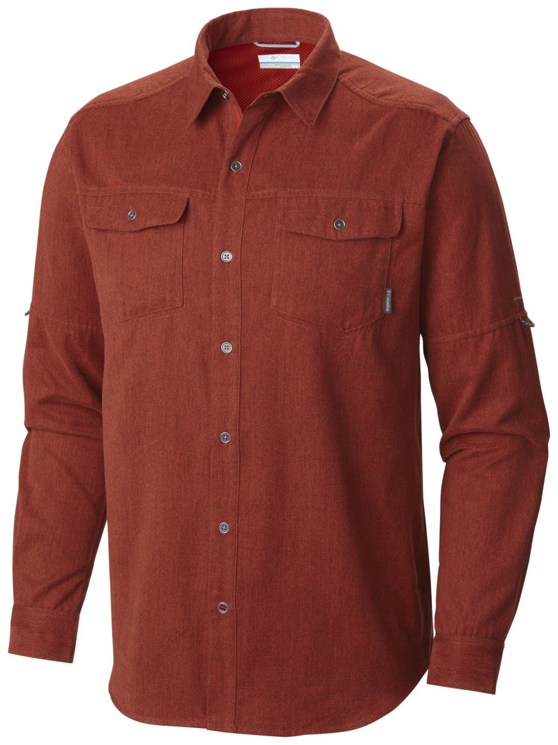 Columbia Pilsner Lodge Langärmeliges Shirt für Herren Rust Red Heather-30