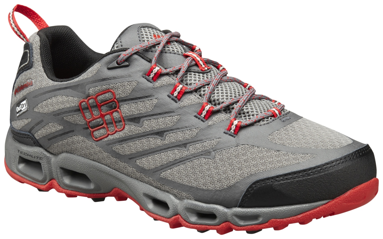 Columbia Men's Ventrailia II Outdry® Shoes City Grey, Bright Red-30