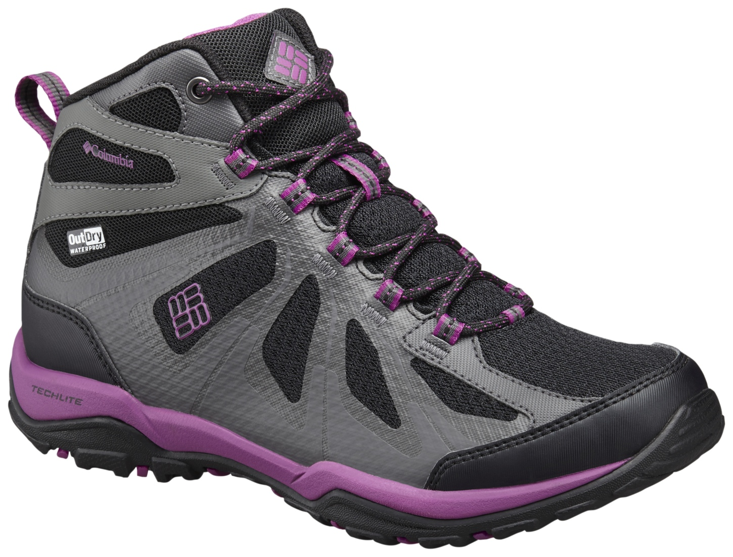 Columbia Women's Peakfreak XCRSN II XCEL Mid Outdry® Shoes Black, Intense Violet-30