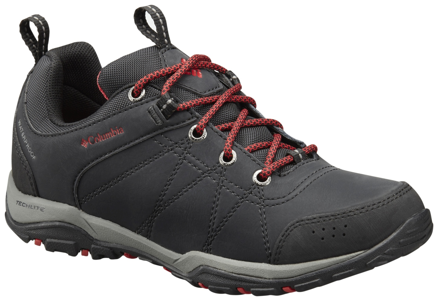 Columbia Women's Fire Venture Low Waterproof Shoes Black, Burnt Henna-30