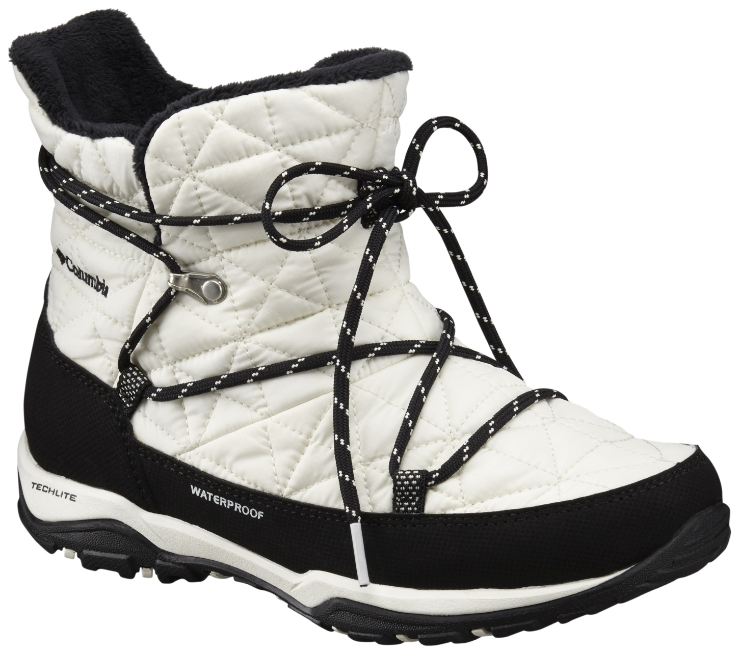 Columbia Women's Loveland Shorty Omni-Heat Winter Boots Sea Salt, Black-30