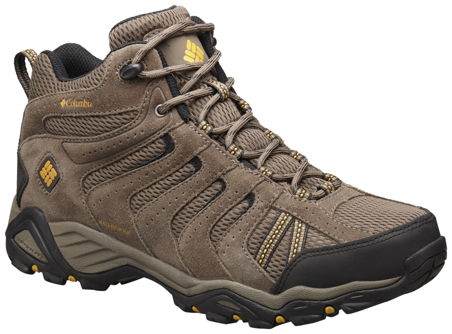 Columbia Men's North Plains II Waterproof Mid Shoes Mud, Squash-30
