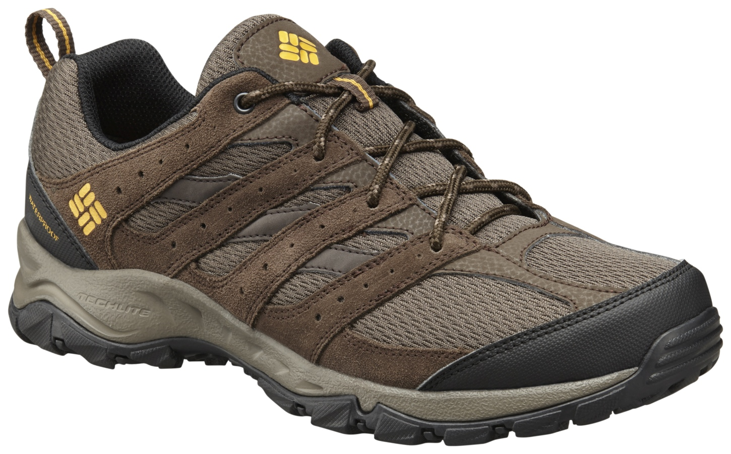 Columbia Men's Plains Butte Low Waterproof Trail Shoes Cordovan, Squash-30
