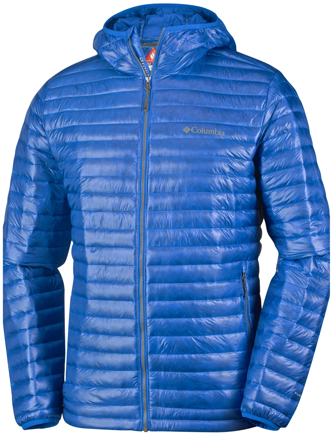 Columbia Men's Platinum Plus 740 TurboDown Hooded Jacket Super Blue-30