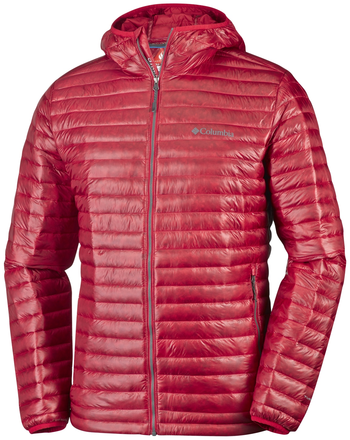 Columbia Platinum Plus 740 TurboDown Jacke mit Kapuze für Herren Mountain Red-30